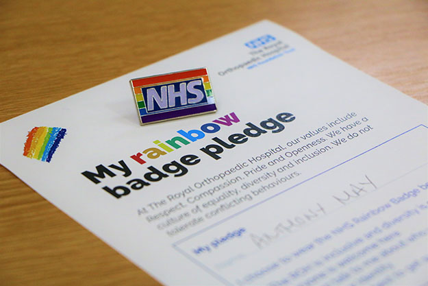 Trust launches rainbow badges in solidarity with LGBT+ staff and patients (Published 25 Sept 2019)